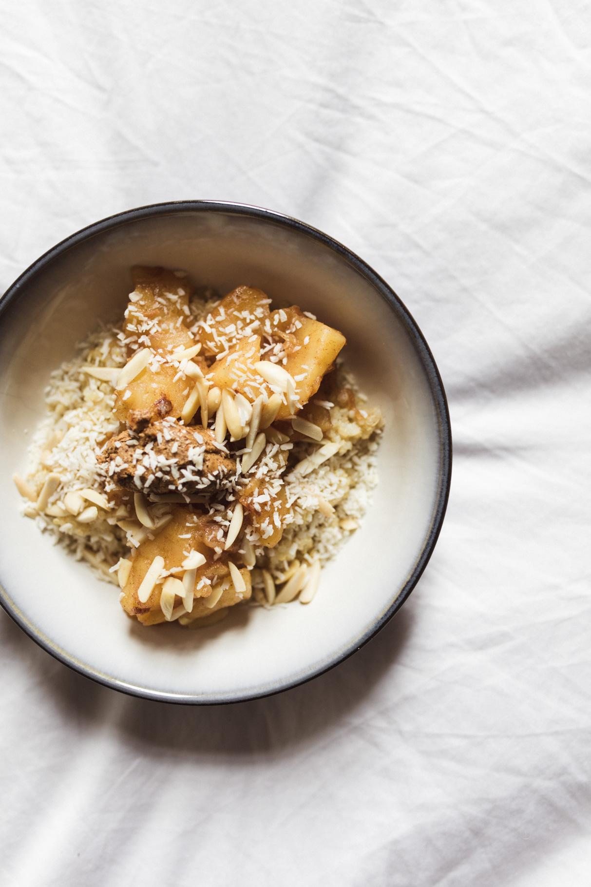 vegan, quinoa, apfelkompott, kompott, rezept, gluten frei, free, annalaurakummer, breakfast