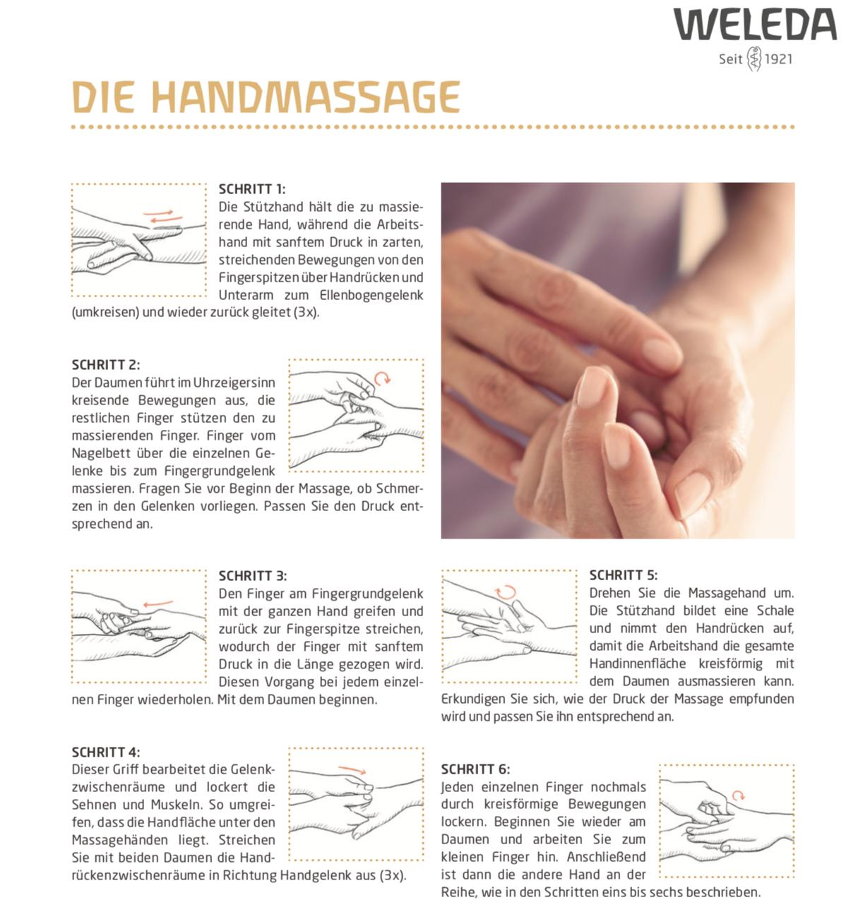 weleda, handmassage